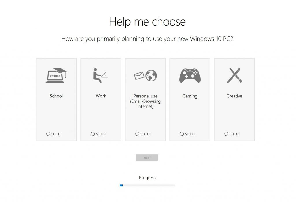 Choose how you're planning to use your new PC