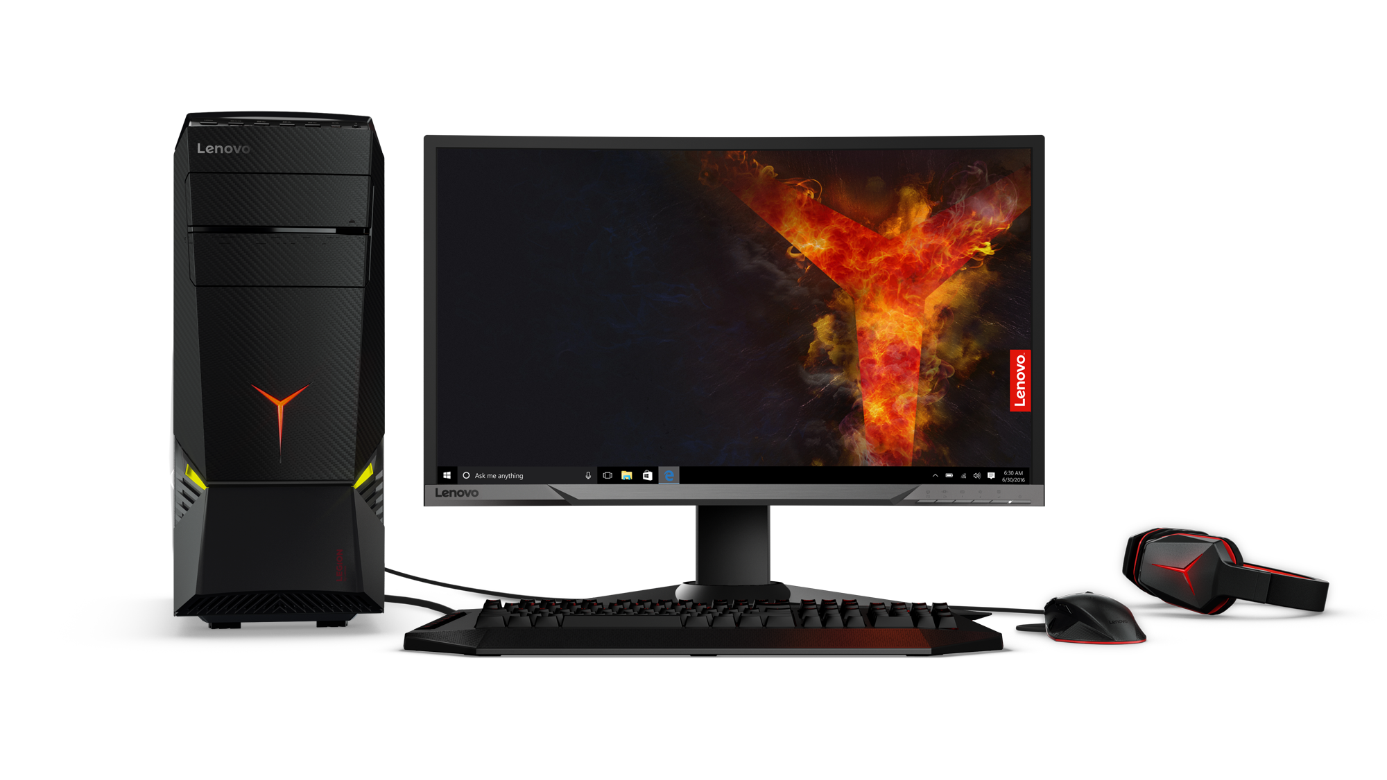 Lenovo Legion Y920 Tower with gaming monitor