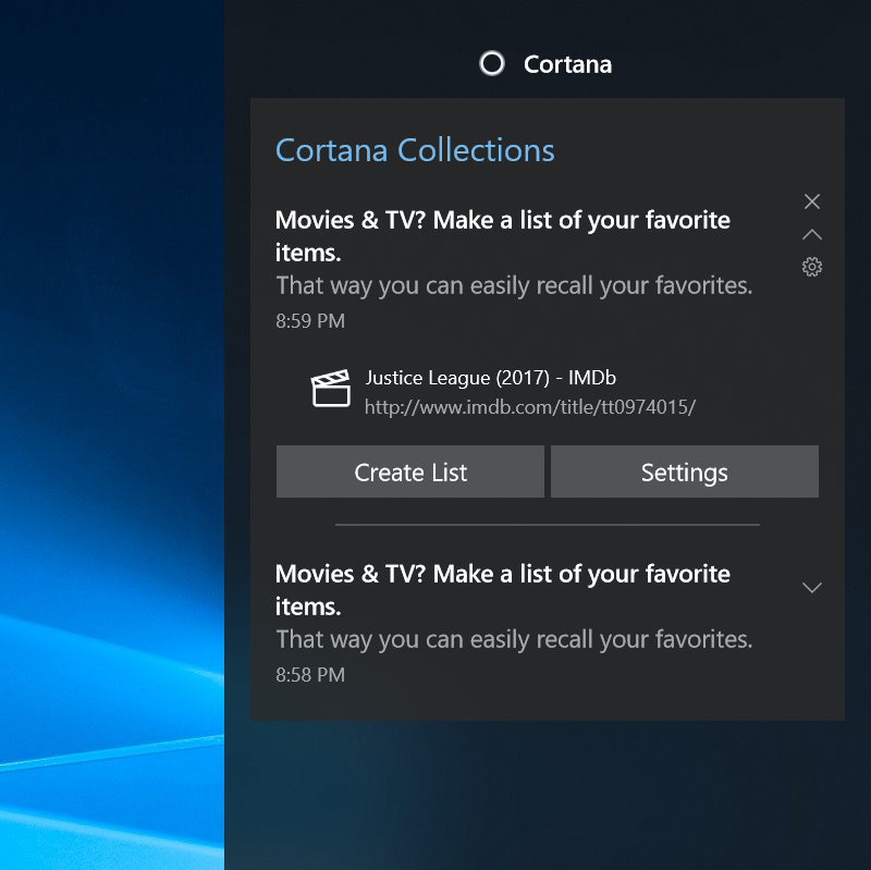 Add a movie you were checking out in your browser to your Collection!