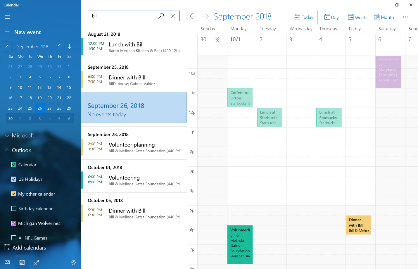 Find Out Whats New In Windows And Office October Aug Capacity To Draw Schematics Title Bar Youll Be Events That Match Your Search Will Clearly Visible On Calendar While Those Dont Dimmed So You Can What Need Quickly