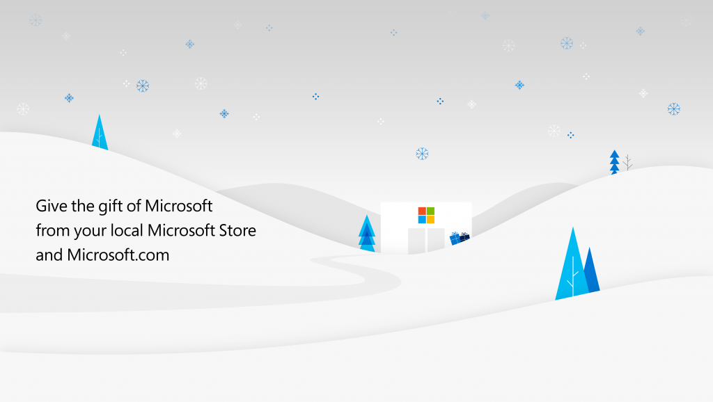 Microsoft Store Winter graphic