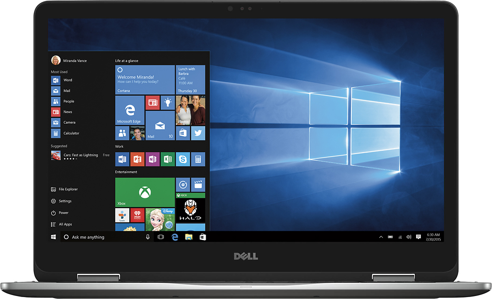 Dell Inspiron 2-in-1 touch screen laptop