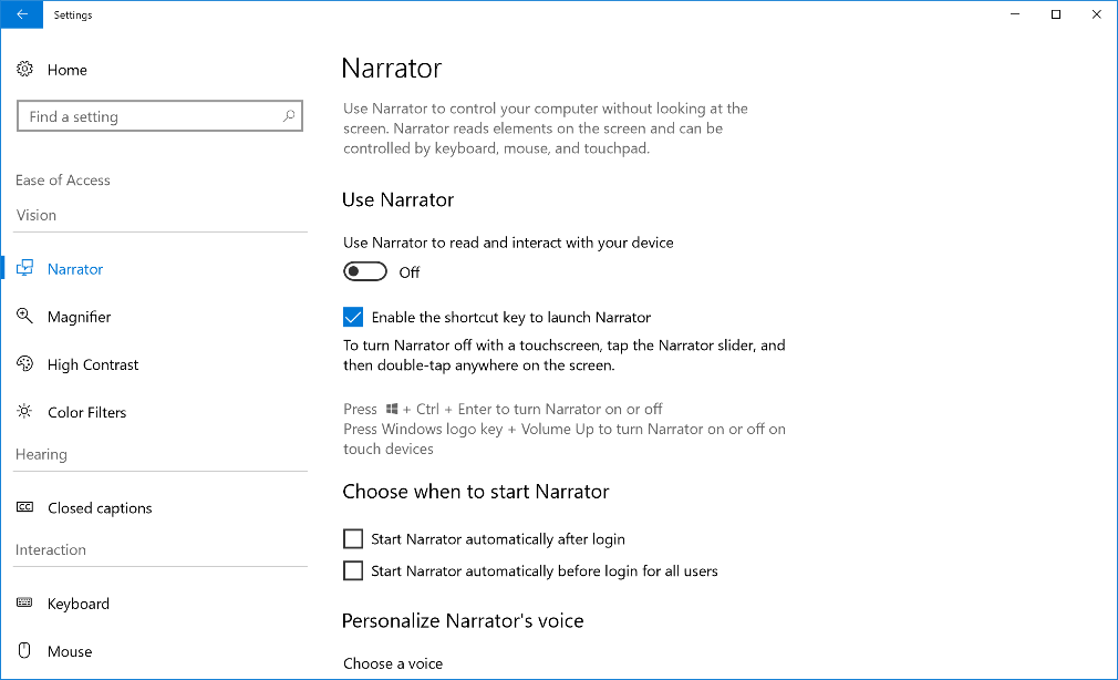 We have grouped related settings together which help you see, hear or interact with your computer to assist in discovering settings more quickly under Ease of Access.