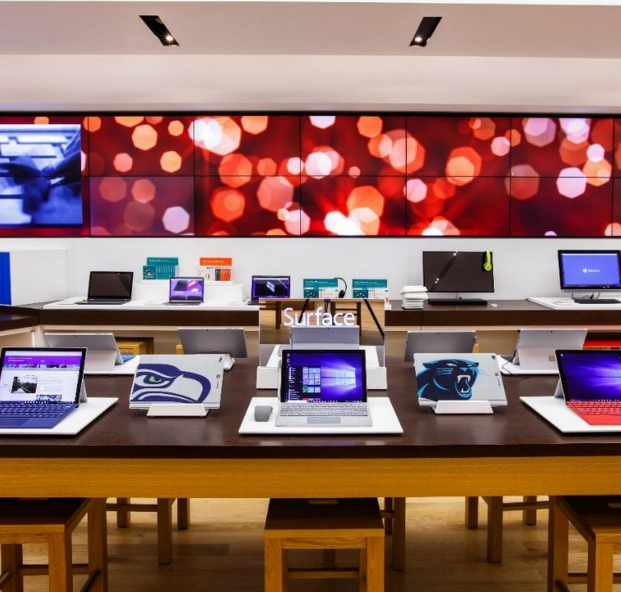 Microsoft Store with holiday products