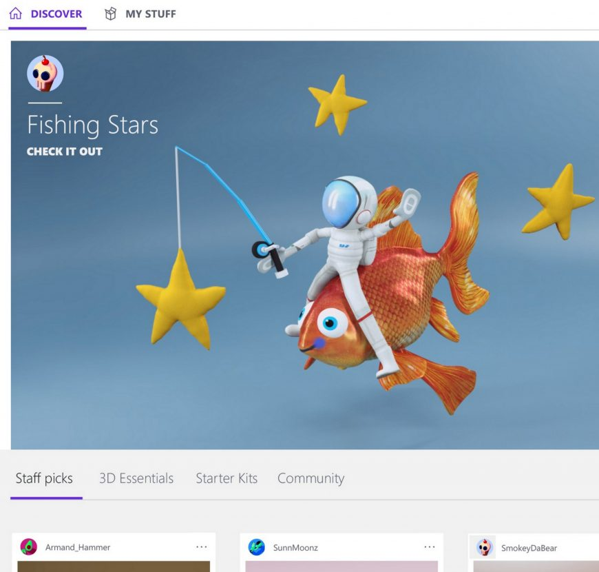 Now with the Creators Update, you have a new app called Paint 3D and access to an online creative community at Remix3D.com. The all-new Paint 3D allows you to create or modify 3D objects, easily change color or texture, or turn 2D images into 3D works of art.