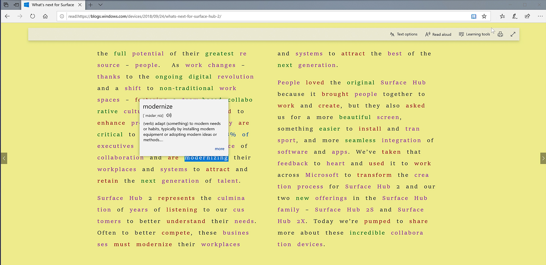 Windows 10 Tip: Look up definitions for words in web pages