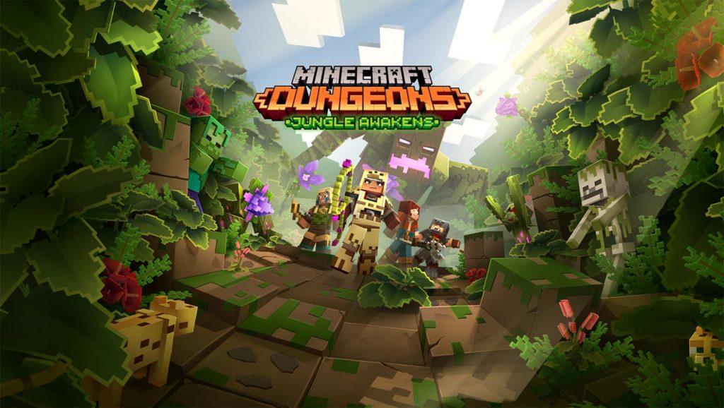 Title art for Minecraft Jungle Awakens DLC