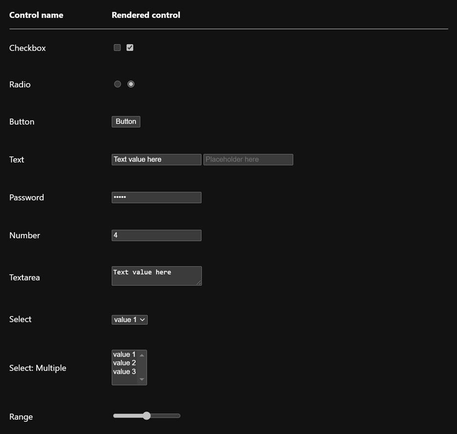 Dark mode controls in Chromium