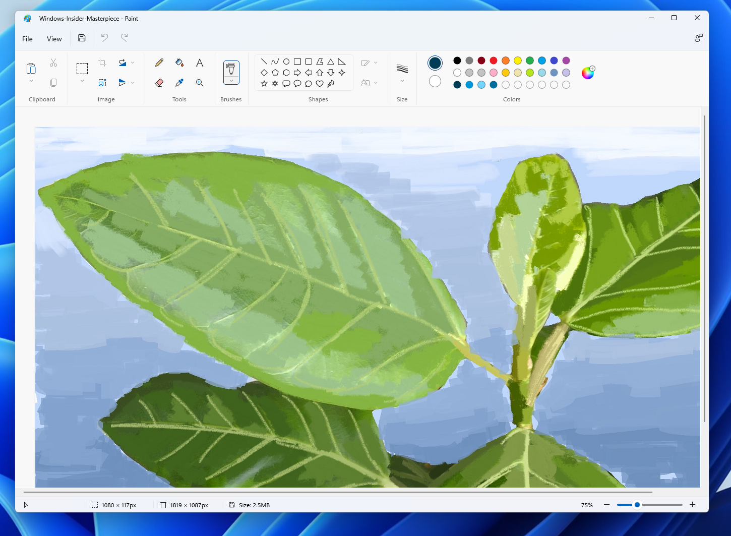 The redesigned Paint app for Windows 11 with simplified toolbar and more!