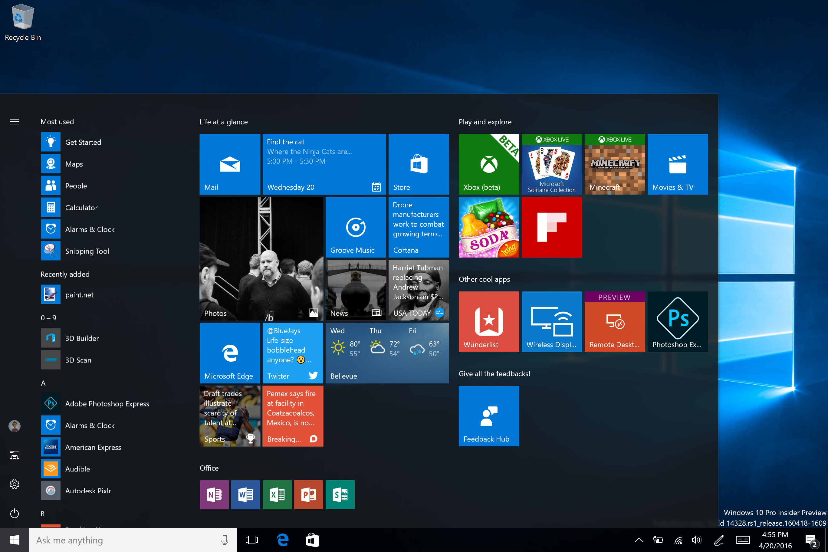 Announcing Windows 10 Insider Preview Build 14328 for PC and